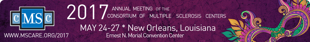2017 Annual Meeting of the Consortium of Multiple Sclerosis Centers: http://www.mscare.org/